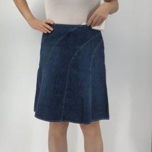 White House Black Market Blanc denim skirt
